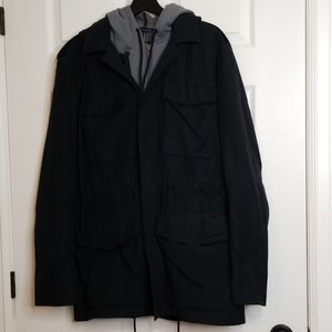 Marc Jacobs woolcoat with detachable vest and hood